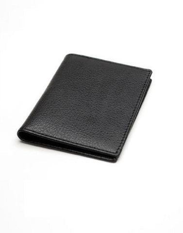 Image of a stylish black Chelsea Leather Oyster card holder