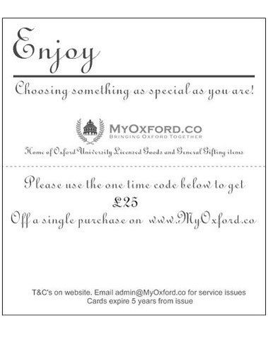 Image of inside our MyOxford Gift Cards showingcasing it's crisp design