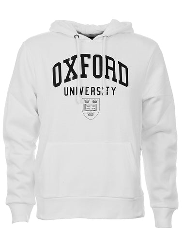 Image of a stylish white personizable Oxford Hoodie.