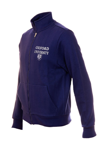Image of the side of the personalizable blue men's jacket