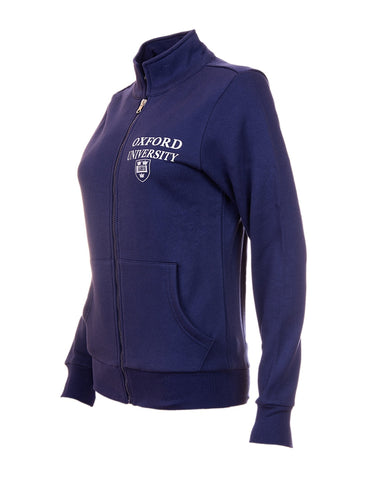 Image of the side of a personalizable blue womens's jacket