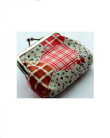 Image of a small women's fashion coin purse or cosmetic bag