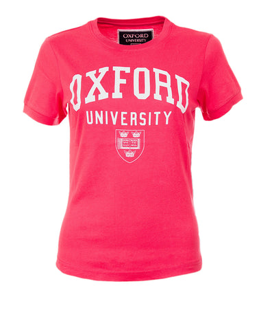 Image of a personalizable women's pink t-shirt