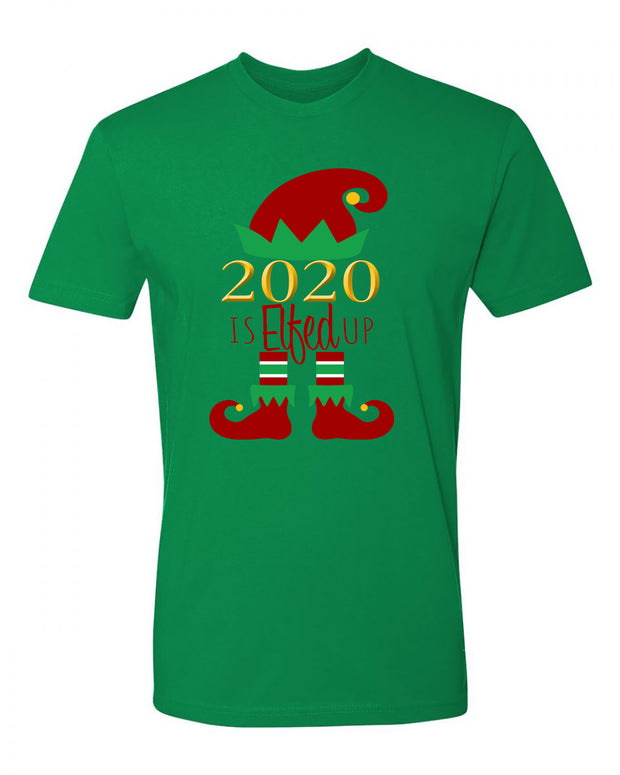 "Adult ""2020 Is Elfed Up"" Jersey Cotton Short Sleeve Tee"