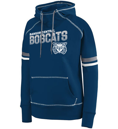 "Girls/Ladies ""Bangor Central Bobcats"" 50/50 Cotton/Poly Pullover Hoodie"