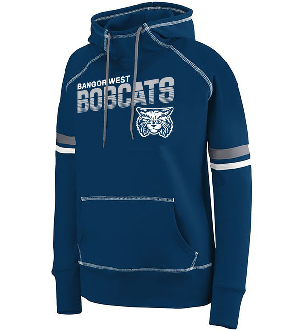 "Girls/Ladies ""Bangor West Bobcats"" 50/50 Cotton/Poly Pullover Hoodie"