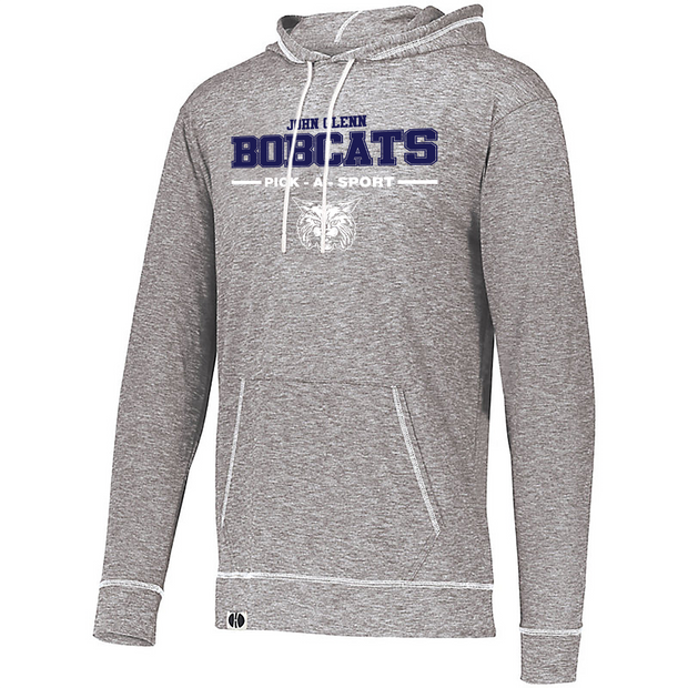 "Adult ""John Glenn Bobcats"" Lightweight Athletic Pullover Hoodie - Choose Your Sport"