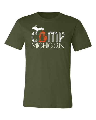 "Adult ""Camp Michigan"" Jersey Cotton Short Sleeve Tee"