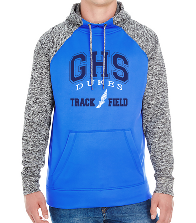 Adult Garber High School Track & Field Colorblock Hoodie - Royal