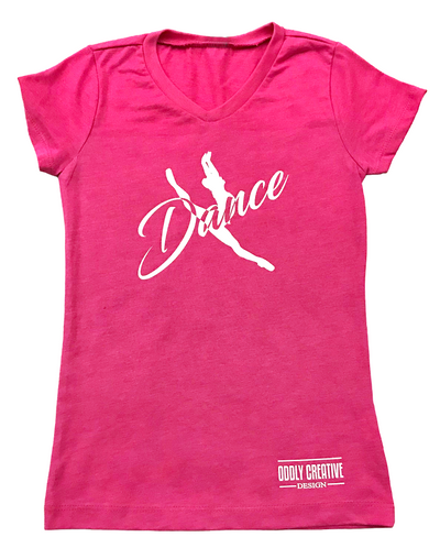 "Youth Girl's Princess ""DANCE"" Tee - Raspberry"