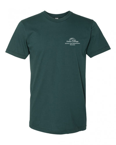 "Adult ""Delta College Science and Mathematics Department"" Jersey Cotton Short Sleeve Tee"
