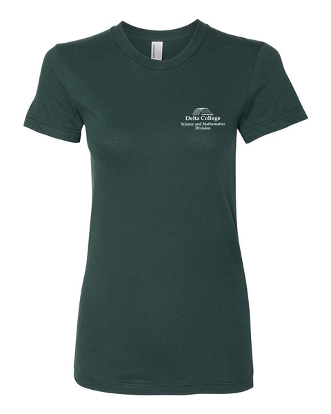 "Ladies ""Delta College Science and Mathematics Department"" Jersey Cotton Short Sleeve Tee"