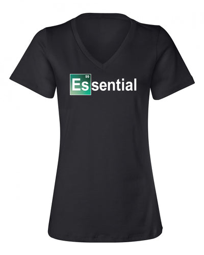 "Ladies ""Essential - Element"" Relaxed Jersey Cotton Short Sleeve Tee - Crew or V-Neck"