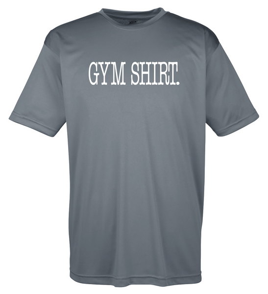 "Men's Moisture Wicking ""Gym Shirt."" Fitness Tee"