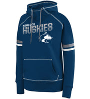 "Girls/Ladies ""Hemlock Huskies"" 50/50 Cotton/Poly Pullover Hoodie"