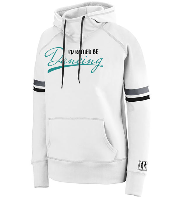 "Girls/Ladies ""I'd Rather Be Dancing"" 50/50 Cotton/Poly Spry Pullover Hoodie"