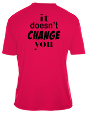 "Adult Moisture Wicking ""If It Doesn't Challenge You, It Doesn't Change You"" Fitness Tee"
