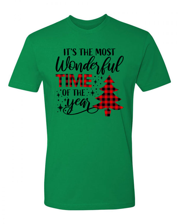 "Adult ""It's the Most Wonderful Time of the Year"" Jersey Cotton Short Sleeve Tee"