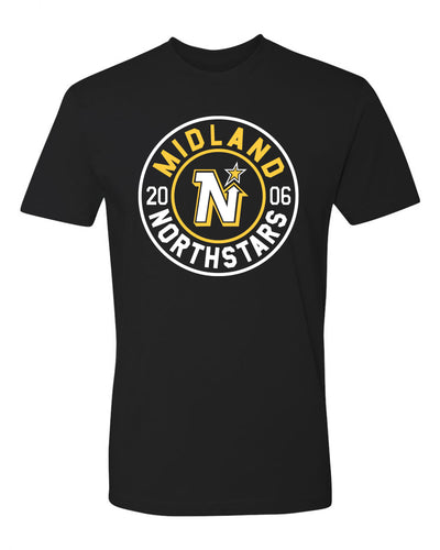 "Adult ""Midland Northstars"" Jersey Cotton Tee - Traditional Design"