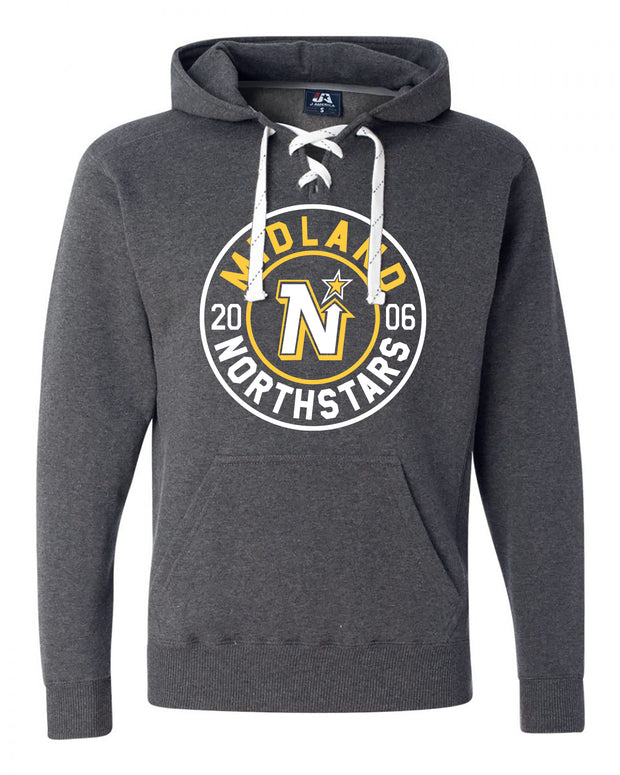 "Adult ""Midland Northstars"" Cotton/Polyester Sport Laced Pullover Hoodie"