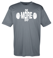 "Adult Moisture Wicking ""One More Rep"" Fitness Tee"