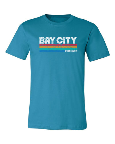 "Adult ""Bay City, Michigan"" Retro Jersey Cotton Short Sleeve Tee"