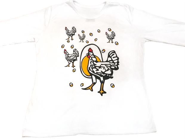 "Adult ""Roseanne: Chicken Shirt"" - Long Sleeve or Short Sleeve"