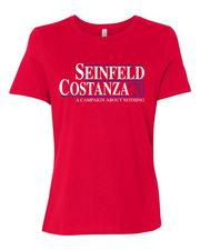 "Ladies ""Seinfeld-Costanza 2020"" Relaxed Jersey Cotton Short Sleeve Tee"