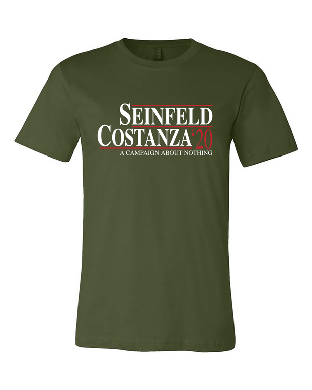 "Adult ""Seinfeld-Costanza 2020"" Jersey Cotton Short Sleeve Tee"