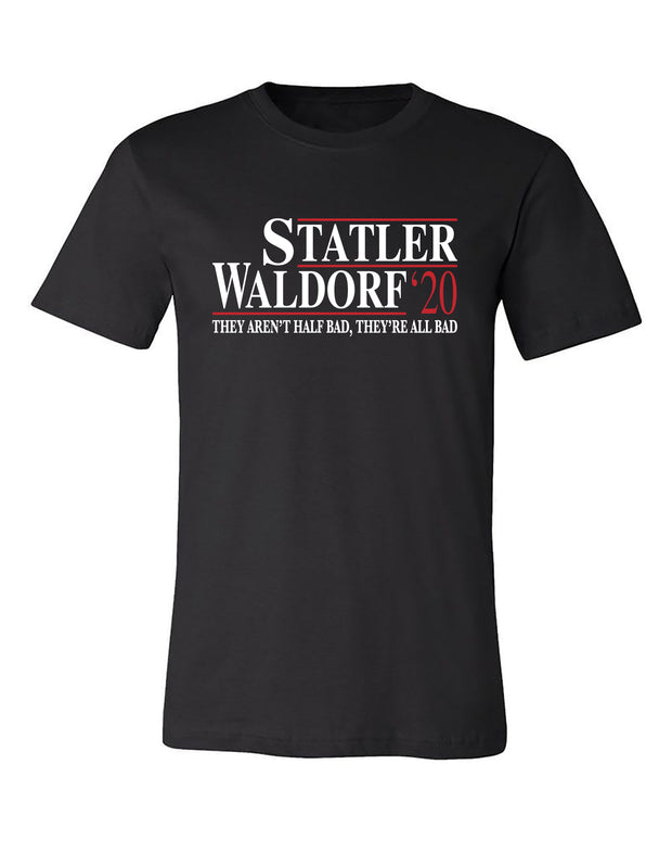 "Adult ""Statler-Waldorf 2020"" Jersey Cotton Short Sleeve Tee"