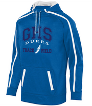 Adult Garber High School Track & Field Tonal Heather Hoodie - Royal