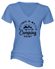 "Ladies ""This Is My Camping Shirt - Trailer"" Essential V-Neck Tee"