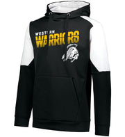 "Youth/Adult ""Western Warriors"" Moisture Wicking Performance Polyester Blue Chip Hoodie - Black/White"