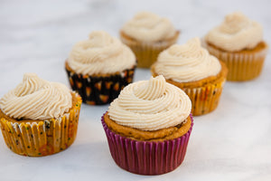 Killer Pumpkin Port Cupcakes <br/>with Cream Cheese Frosting