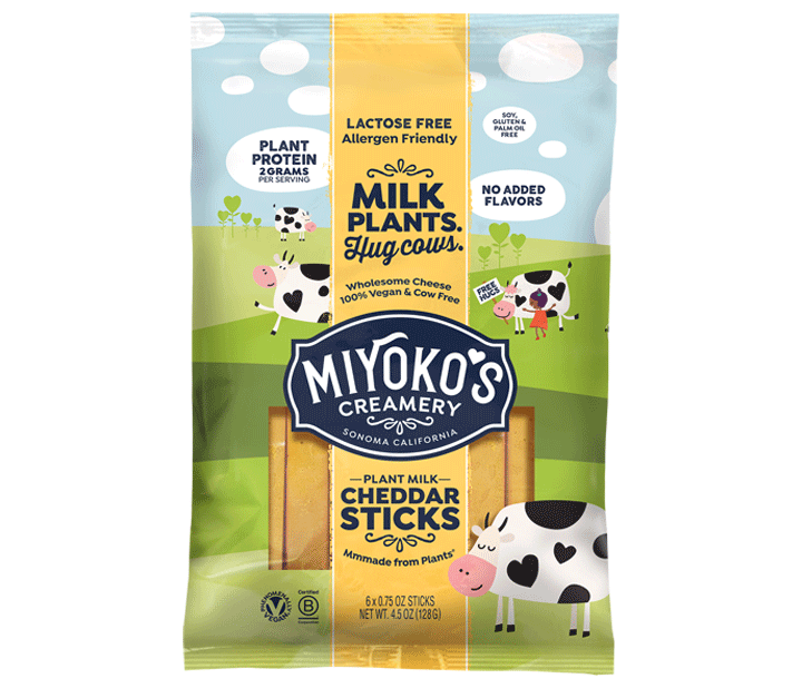 Plant Milk Cheddar Sticks