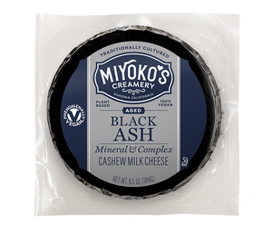 Aged Black Ash Cashew Milk Cheese