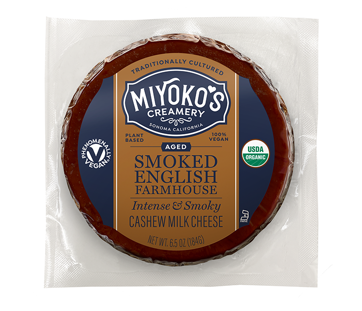 Aged Smoked English Farmhouse Cashew Milk Cheese