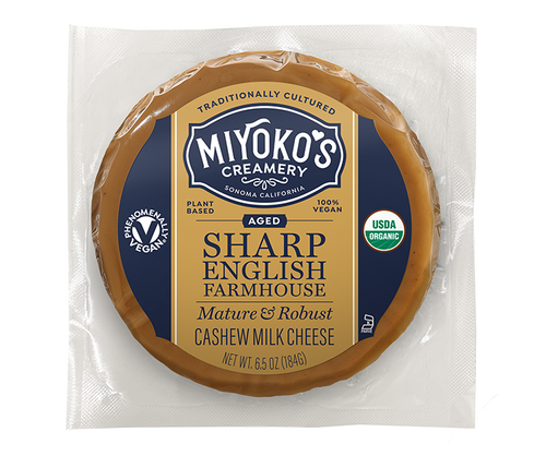 Aged Sharp English Farmhouse Cashew Milk Cheese