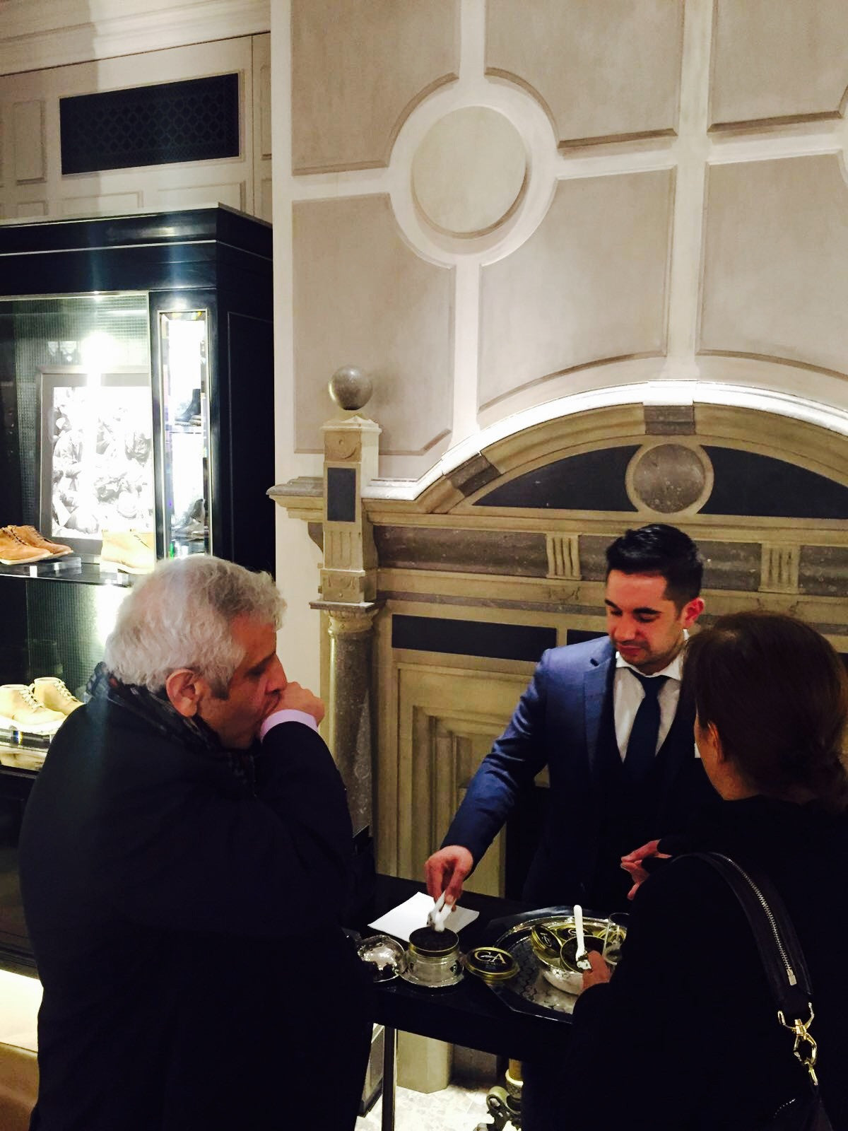 Caviar Artisan Bar At Belstaff 2016 Collection Event