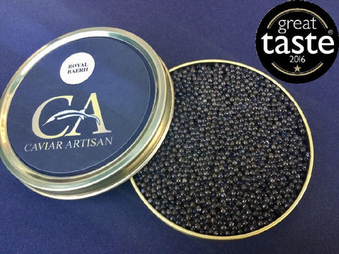 100g Royal Baerii Caviar, Italy | Buy Beluga Caviar Online UK At Caviar Artisan