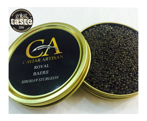 Buy Caviar Online UK - Royal Baerii Siberian Sturgeon 30g | Caviar Artisan