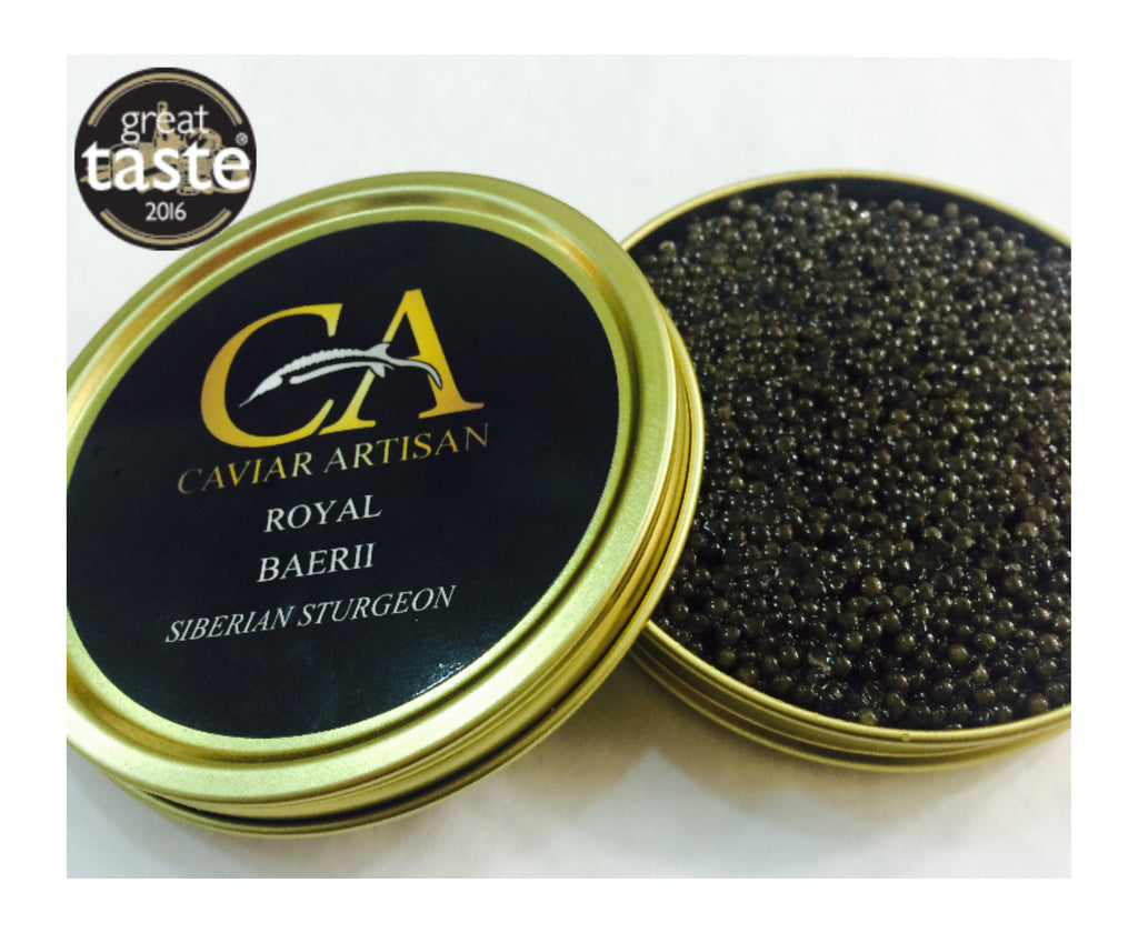 Buy Caviar Online UK - Royal Baerii Siberian Sturgeon 250g | Caviar Artisan