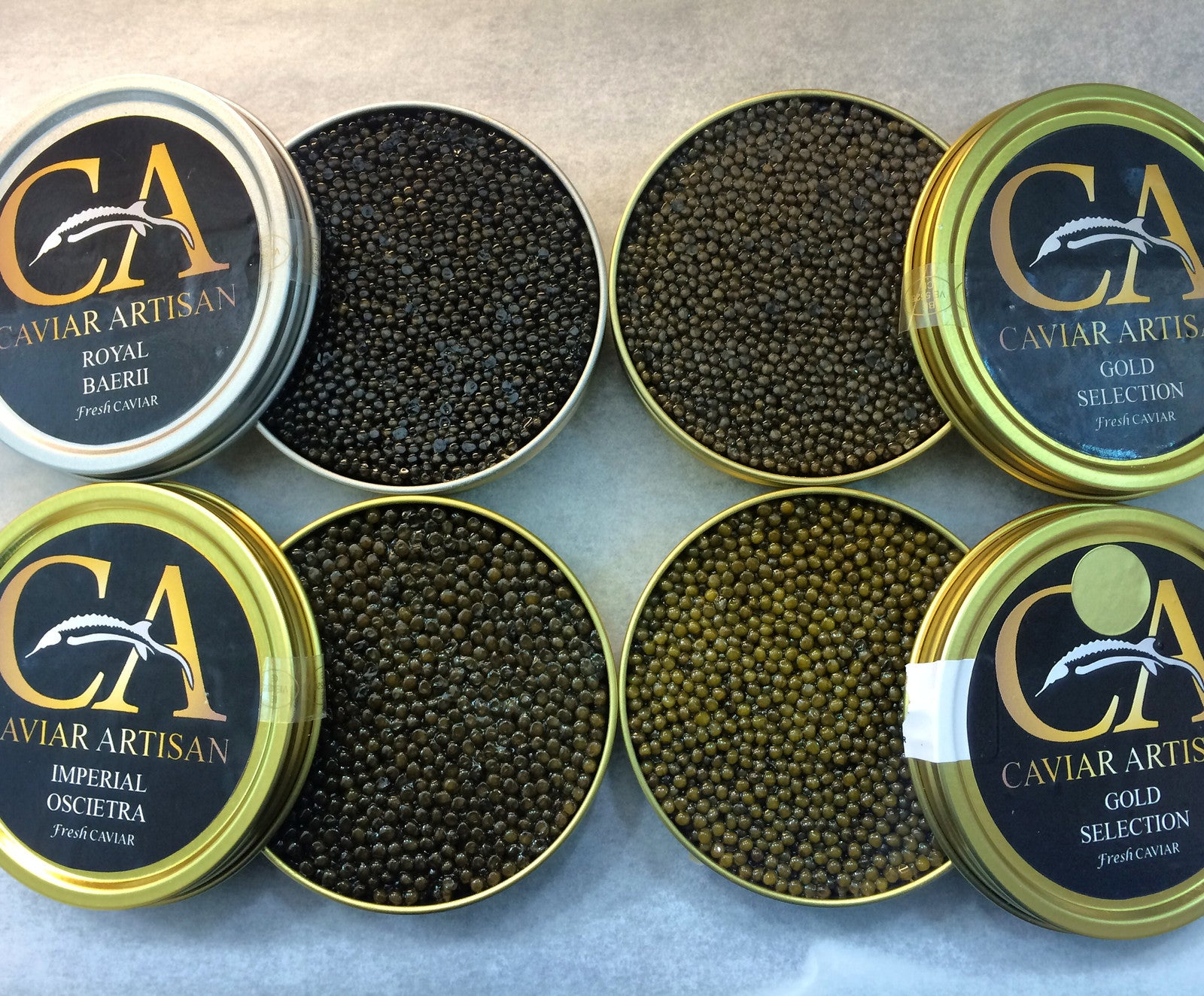caviar online in the UK at Caviar artisan. On demand Food delivery service.