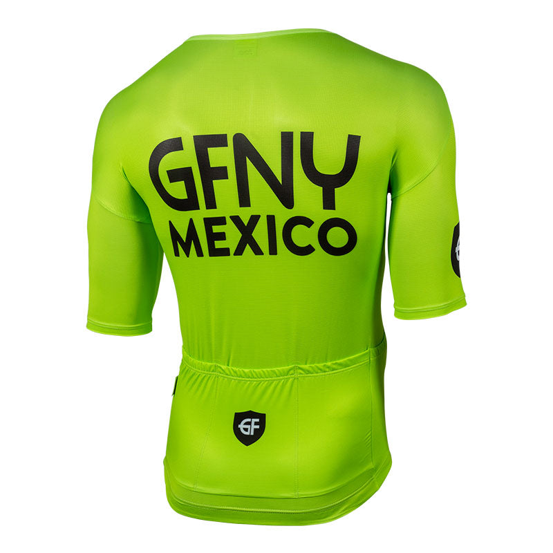 2019 GFNY MEXICO JERSEY ZIPPER LESS GREEN