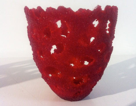 Pate de Verre Crucible - Red