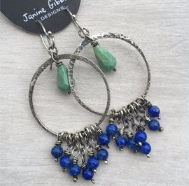 Hoops & Drops - Lapis and Tourquoise