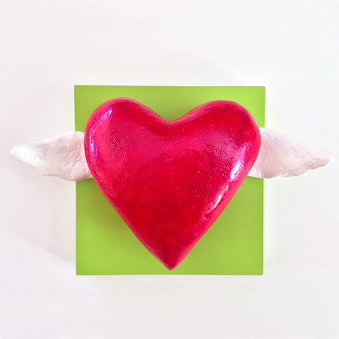 Sculpture - Heart & Wing Series - 2