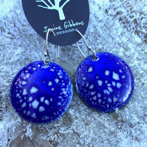 Earrings - Circle - No. 7 - Pottery Chard