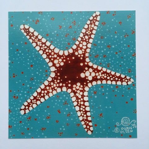 Card - Necklace Sea Star