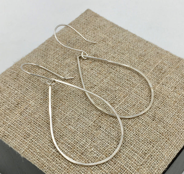 Earrings - Sterling Teardrop Hoop